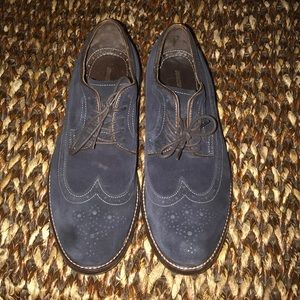Johnston & Murphy Blue & Brown Suede Shoes